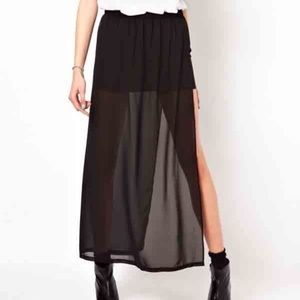 Sheer Skirt with slit